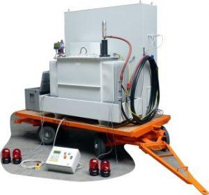Trailer rotating machines tester